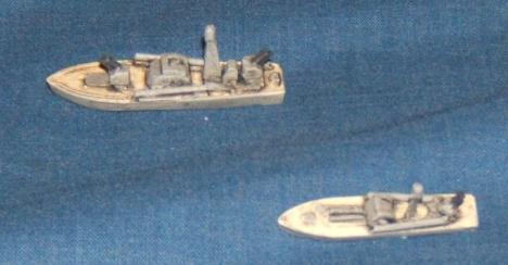 P-6 (top) and P-4 (bottom)Soviet Torpedo boats