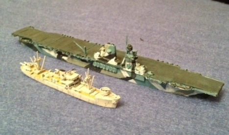 SL-51 French Aux. Cruiser Quercy and USN 1929 carrier design USS Sackets Harbor